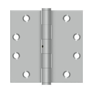 Deltana 4 1/2 x 4 1/2 Inch Square Corner NRP Stainless Steel Hinge - Pair