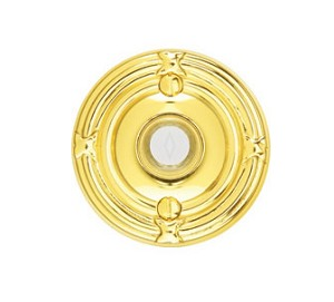 Emtek Brass Ribbon & Reed Door Bell Cover