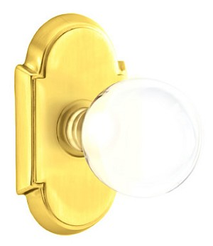 Emtek Bristol Door Knob with Style #8 Rosette