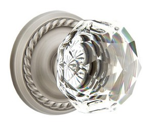 Emtek Diamond Crystal with Rope Rosette