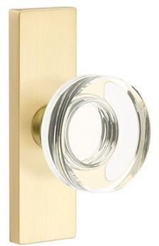 Emtek Disc Crystal Door Knob with 1.5 Inch x 5 Inch Stretto Rosette