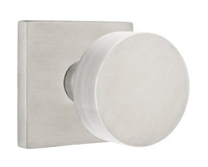 Emtek Stainless Steel Round Door Knob with Square Rosette