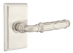 Emtek Ribbon & Reed Lever with Rectangular Rosette