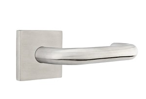Emtek Stainless Steel Cologne Lever Handle with Square Rosette