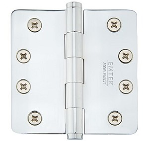 Emtek 4 Inch Heavy Duty Door Hinges with 1/4 Inch  Round Corners  (pair)