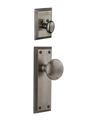 Grandeur Fifth Avenue Handleset with Fifth Avenue Knob - (Interior Half Only, with Deadbolt)