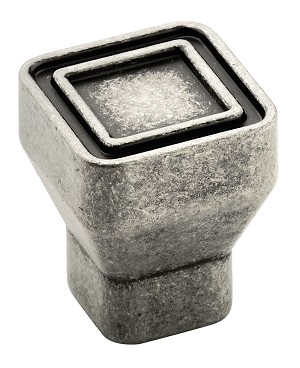 Galleria 53025 Aged Pewter 24mm Square Knob