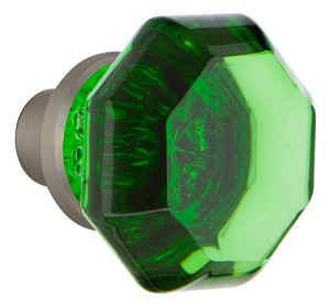 Nostalgic Warehouse Waldorf Emerald Knobs ONLY with Spindle