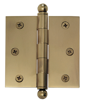 Nostalgic Warehouse 3 1/2 Inch Medium Ball Tipped Hinge (each)