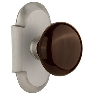 Nostalgic Warehouse Cottage Plate with Brown Porcelain Door Knob