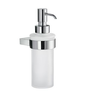 Smedbo AIR Holder with Glass Soap Dispenser - Polished Chrome