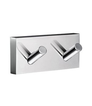 Smedbo House Collection Double Towel Hook - Polished Chrome
