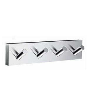 Smedbo House Collection Quadruple Towel Hook - Polished Chrome