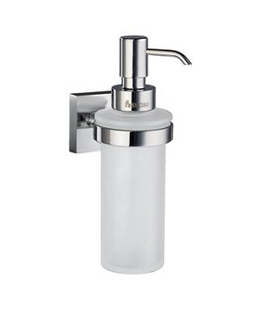 Smedbo House Collection Glass Soap Dispenser Wallmount - Polished Chrome