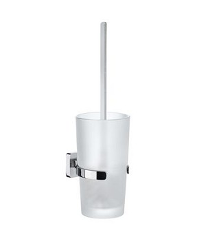 Smedbo Ice Toilet Brush and Container - Polished Chrome