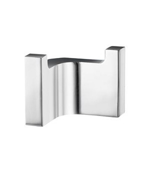 Smedbo Life Collection Double Rectangular Towel Hook - Polished Chrome