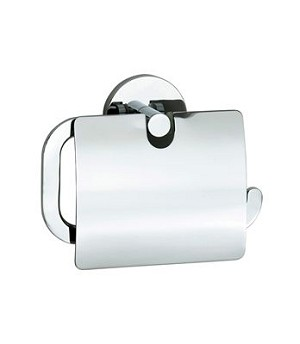 Smedbo Loft Collection Toilet Roll Holder With Lid - Polished Chrome