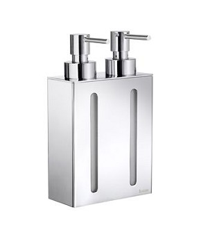 Smedbo Outline Collection Double Soap Dispenser Wallmount - Polished Chrome