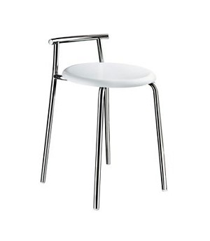 Smedbo Outline Collection Shower Chair - Polished Stainless Steel