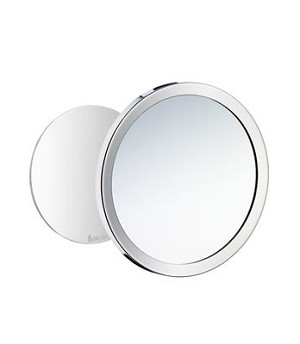 Smedbo Outline Collection Self-Adhesive Wall Plate / Detachable Magnetic Mirror - Polished Chrome