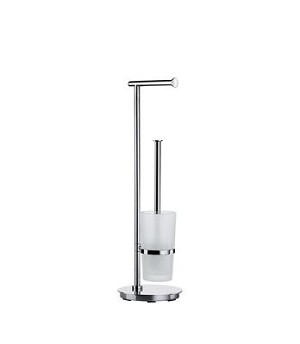 Smedbo Outline Collection Toilet Roll and Brush Holder - Polished Stainless Steel