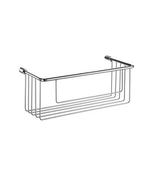Smedbo Sideline Collection 10 1/2 Inch Single Level Soap Basket - Polished Chrome