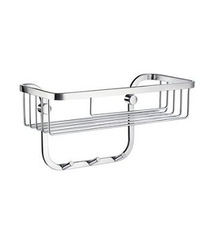 Smedbo Sideline Collection Design Straight Single Level Basket - Polished Chrome