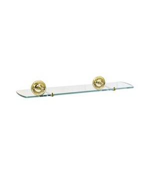 Smedbo Villa Collection Bathroom Shelf - Polished Brass