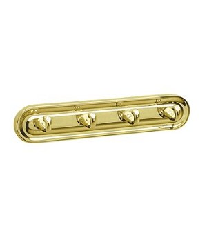Smedbo Villa Collection Quadruple Hook - Polished Brass