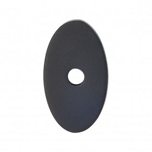 Top Knobs Sanctuary I Oval Backplate Small 1 1/4 Inch - Flat Black