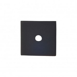 Top Knobs Sanctuary I Square Backplate 1 Inch - Flat Black