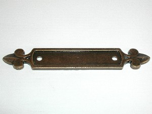 "Top Knobs Tuscany Dover 2 1/2"" CC Backplate - German Bronze"