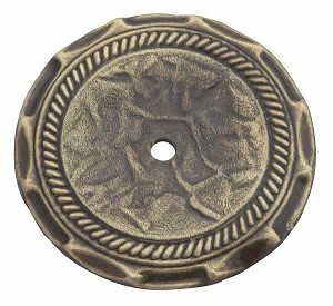 Allison AL1356AB -  2 Inch Antique Brass Cabinet Knob Backplate