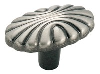 Amerock 1 9/16 Inch Pewter Oval Shell Cabinet Knob