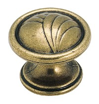 Amerock 1 1/4 Inch Burnished Brass Rose Bud Cabinet Knob