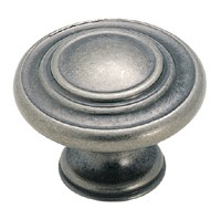 Amerock 1 5/16 Inch Weathered Nickel Cabinet Knob
