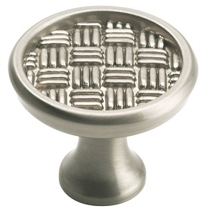 Amerock 1 3/8 Inch Satin Nickel Patterns Cabinet Knob