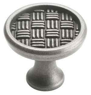 Amerock 1 3/8 Inch Weathered Nickel Patterns Cabinet Knob