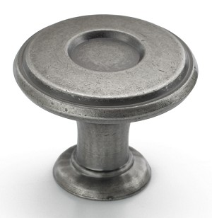 Amerock 1 1/4 Inch Weathered Nickel Porter Cabinet Knob