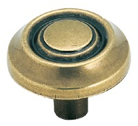Amerock 1 1/4 Inch Burnished Brass Traditional Classic Cabinet Knob