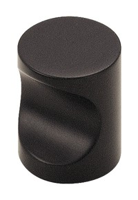 Amerock 13/16 Inch Colors Solid Brass Black Whistle Cabinet Knob