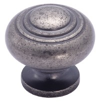 Amerock 1 3/16 Inch Weathered Nickel Solid Brass Cabinet Knob