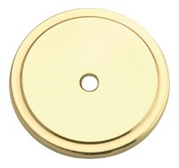 Amerock 1 3/4 Inch Polished Brass Knob Backplate