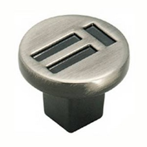 Amerock Pewter Evolutions Symmetry Cabinet Knob
