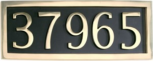 Brass Accents 5 Number Solid Brass Address Plaque