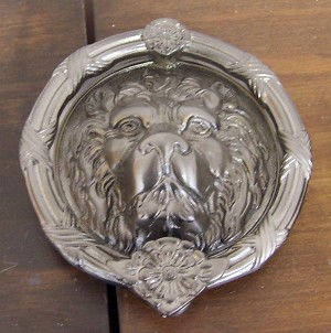 Brass Accents Lion Head Door Knocker