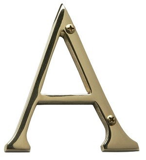 "Brass Accents 4"" Solid Brass House Letters"