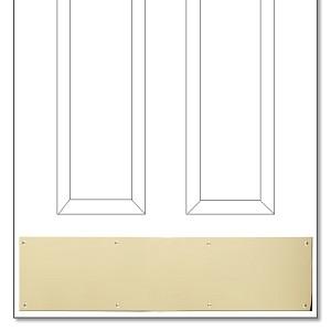 Polished Brass KickplateDoor Kick Plates   Popular Sizes and Custom Kickplates. Entry Door Kick Plates. Home Design Ideas