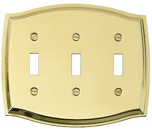 Brass Accents Colonial Switchplate