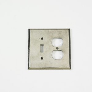 Century Single Toggle/Duplex Receptacle Switchplate - Polished White Bronze